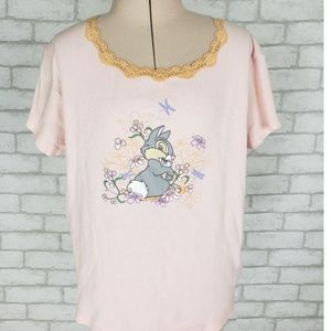 VTG Disney Bambi's Thumper Graphic Ribbed Shirt XL